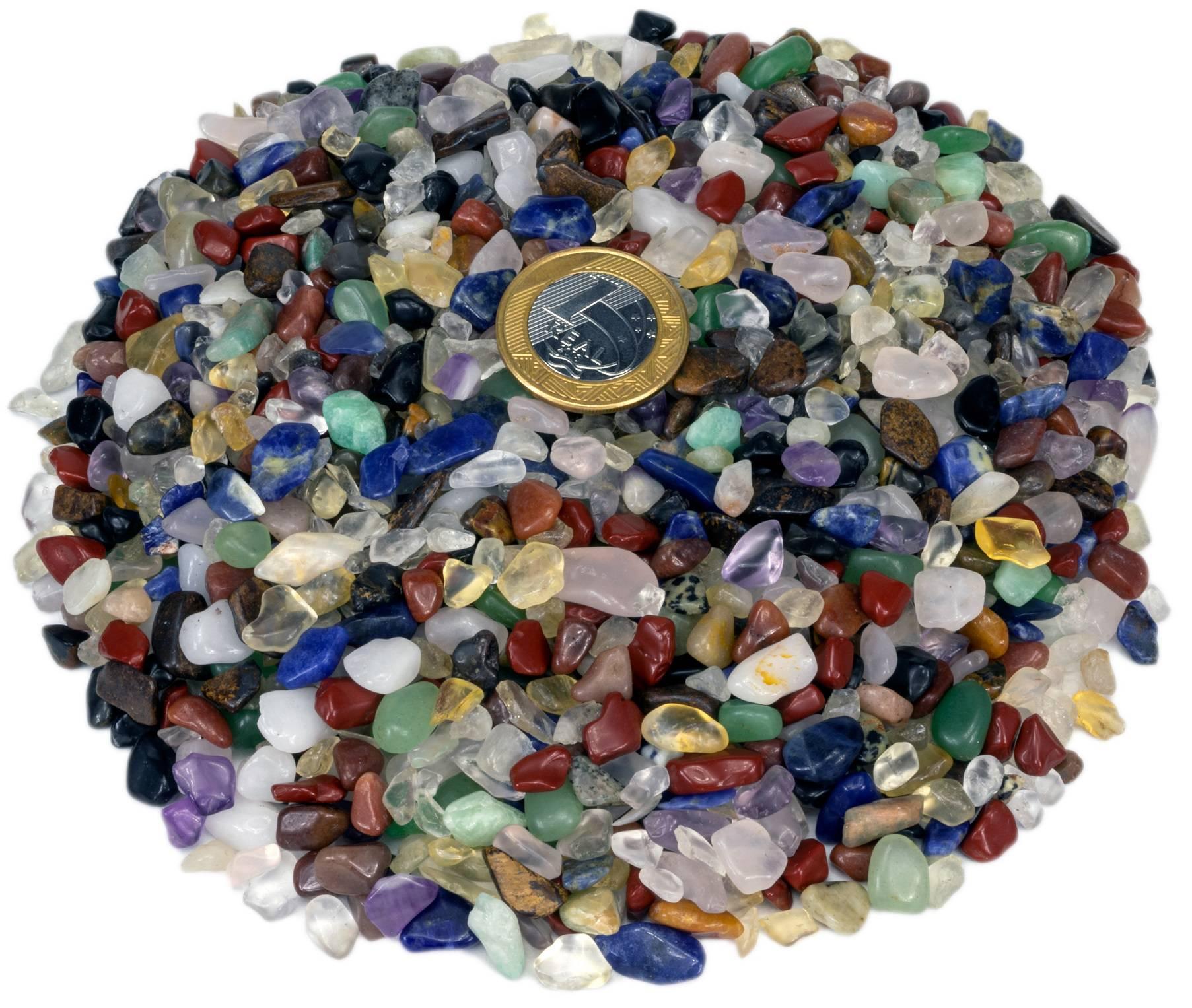 1kg De Cascalho De Pedra Rolada Natural Sortida Mista