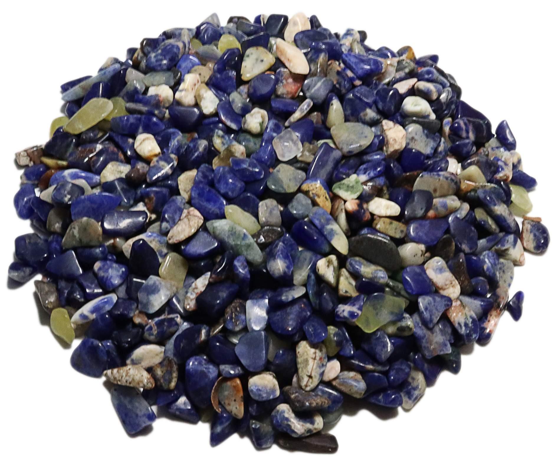 1kg De Cascalho De Pedra Sodalita Natural
