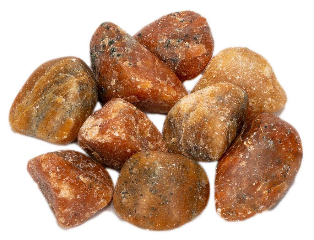 1kg De Pedra Rolada Calcita Laranja Natural