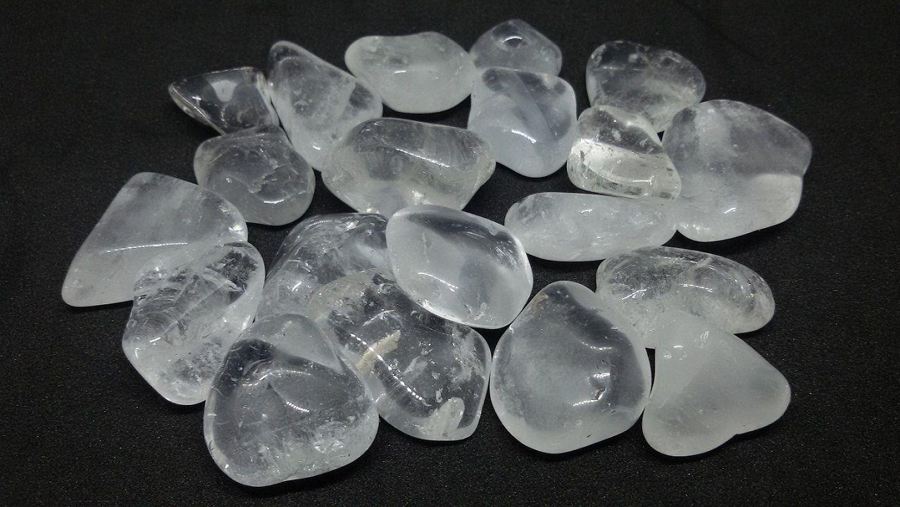 250g De Pedra Rolada De Cristal Quartzo Transparente Natural
