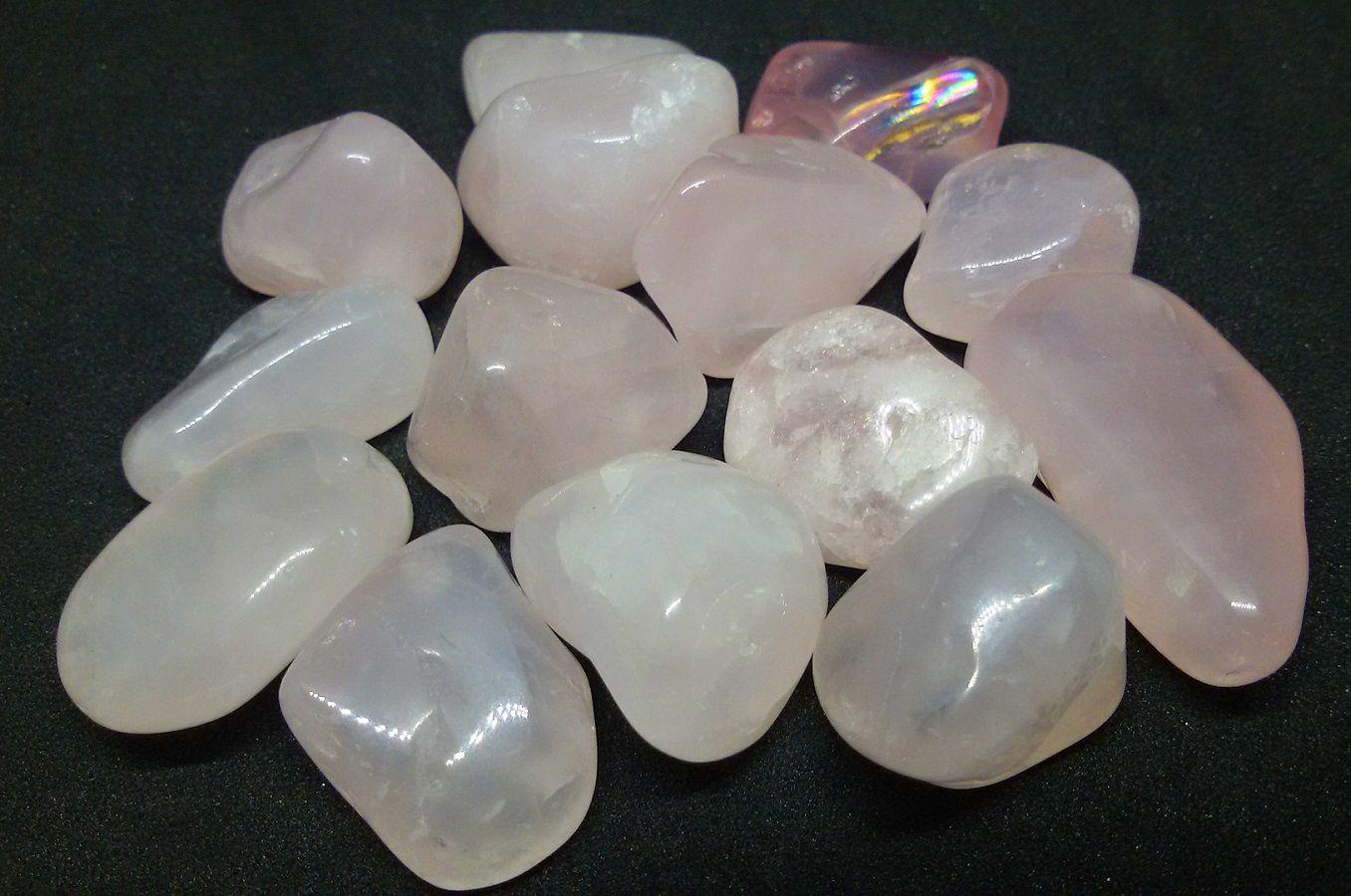 250g de Pedra Rolada De Quartzo Rosa Natural