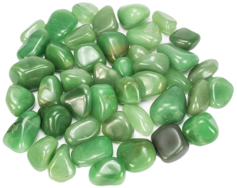 250g de Pedra Rolada De Quartzo Verde Natural