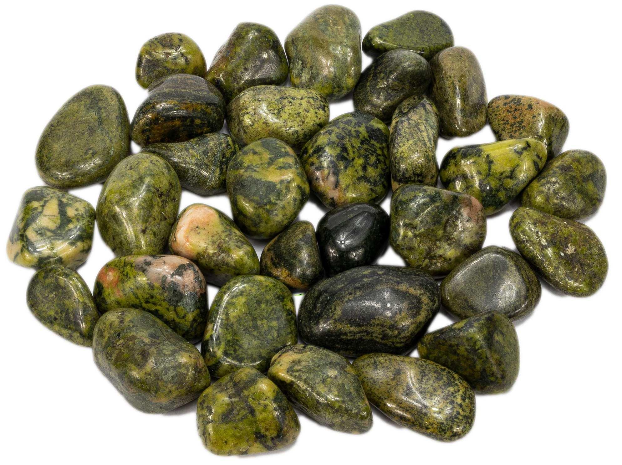 500g de Pedra Rolada De Jade Nefrita Natural