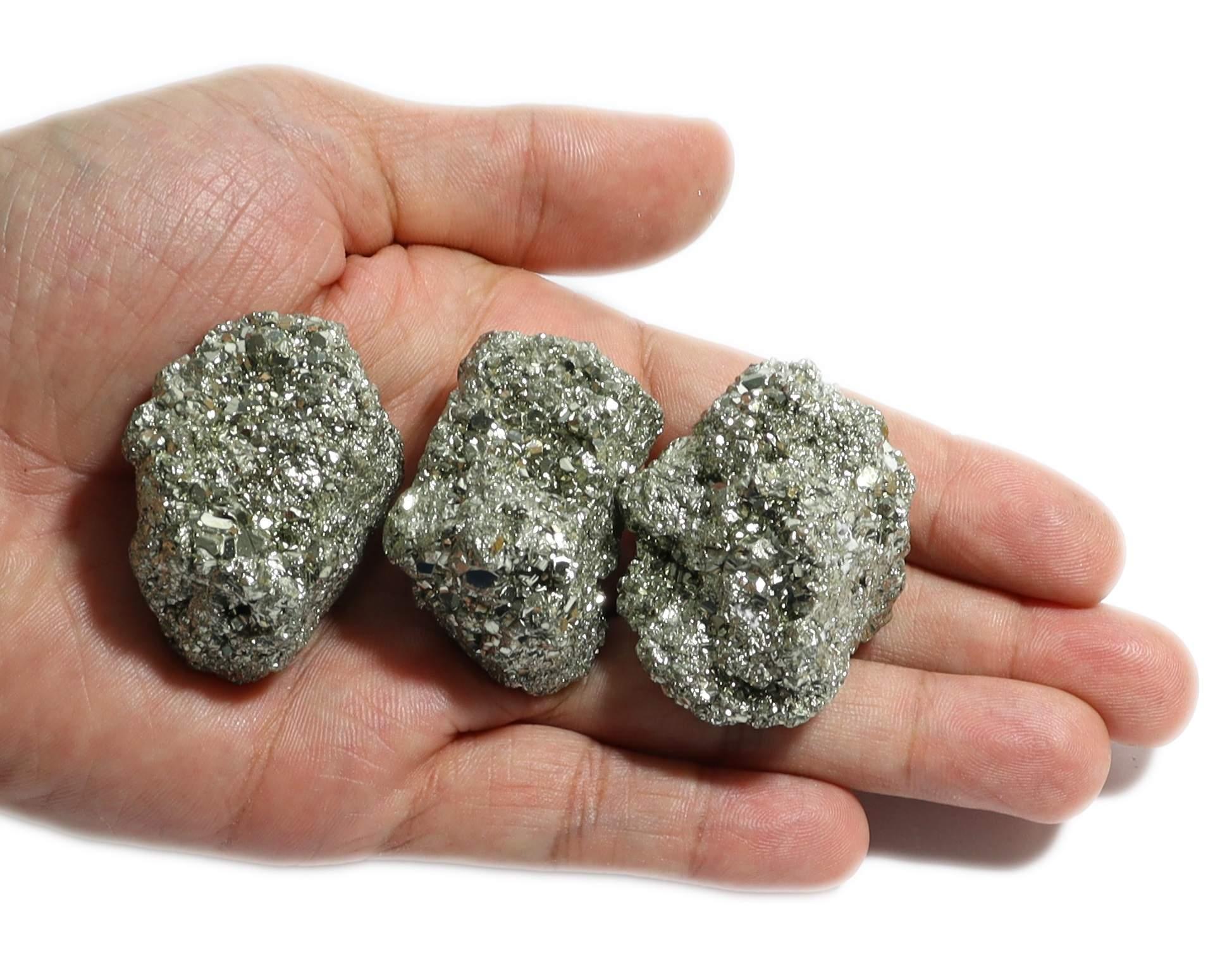 50 Unidades de Pedra Bruta De Pirita Natural