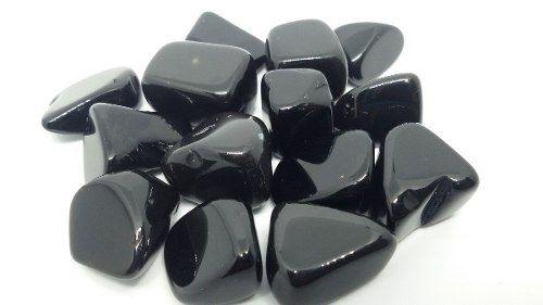 15 Unidades De Pedra Rolada Obsidiana Natural