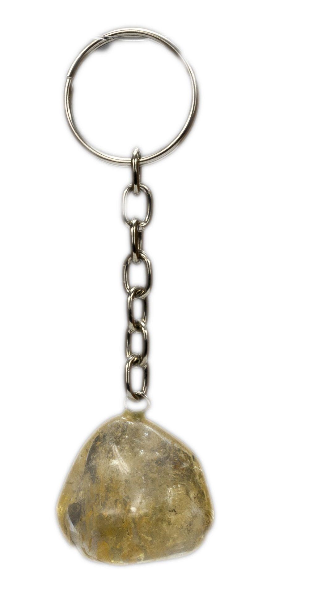 Chaveiro De Citrino - Pedra Da Abundância E Energia Positiva