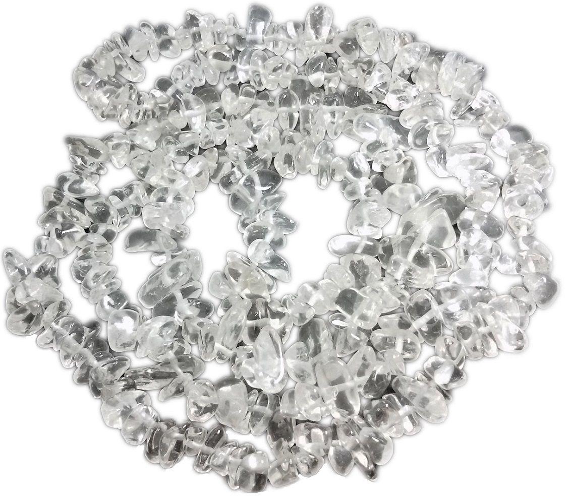 Colar De Cascalho De Pedra Cristal Natural
