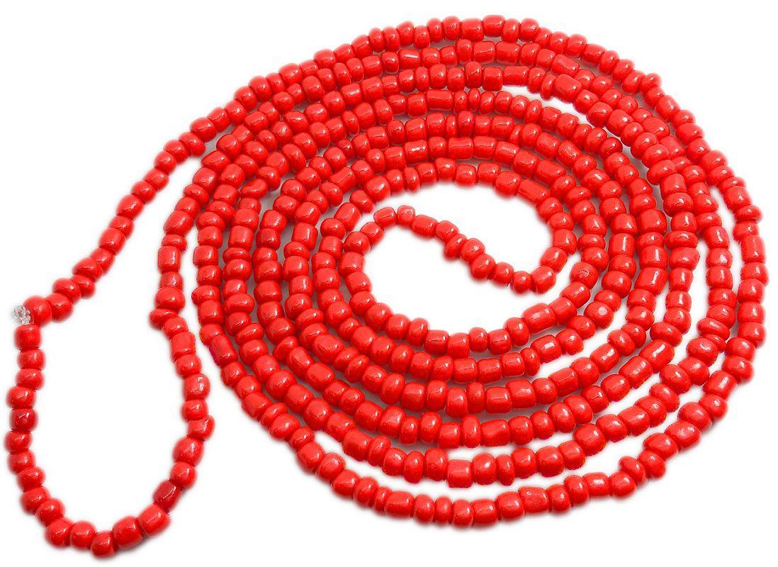 Colar De Miçanga Vermelho Ogum Iansã
