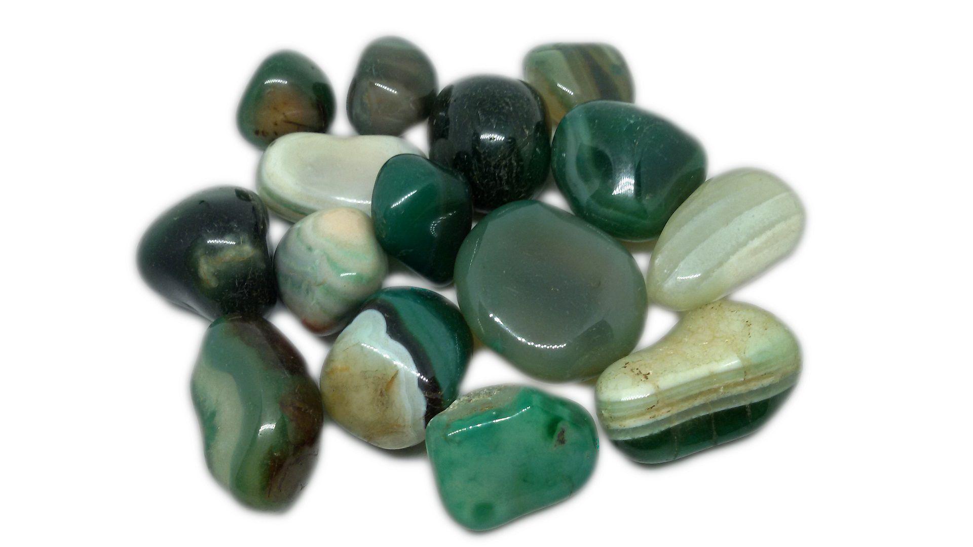 Pedra Rolada De Ágata Verde