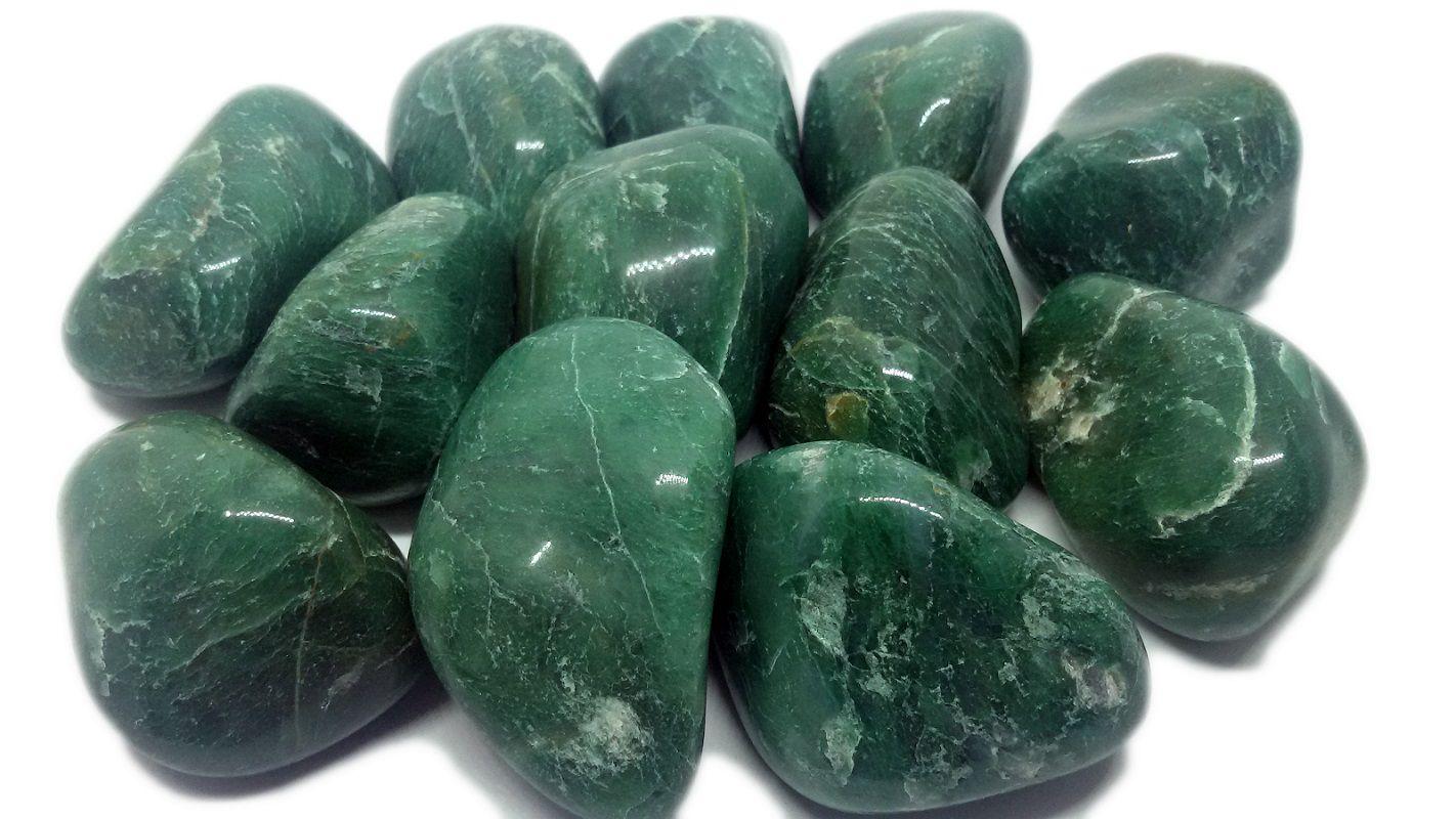 Pedra Rolada De Jadeíta Natural