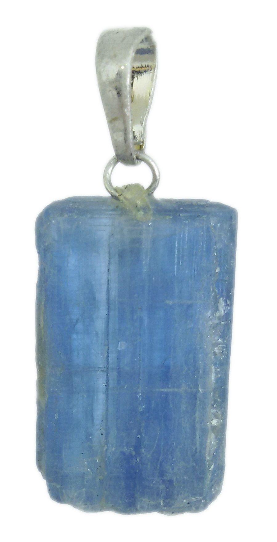 Pingente De Pedra Cianita Azul Natural