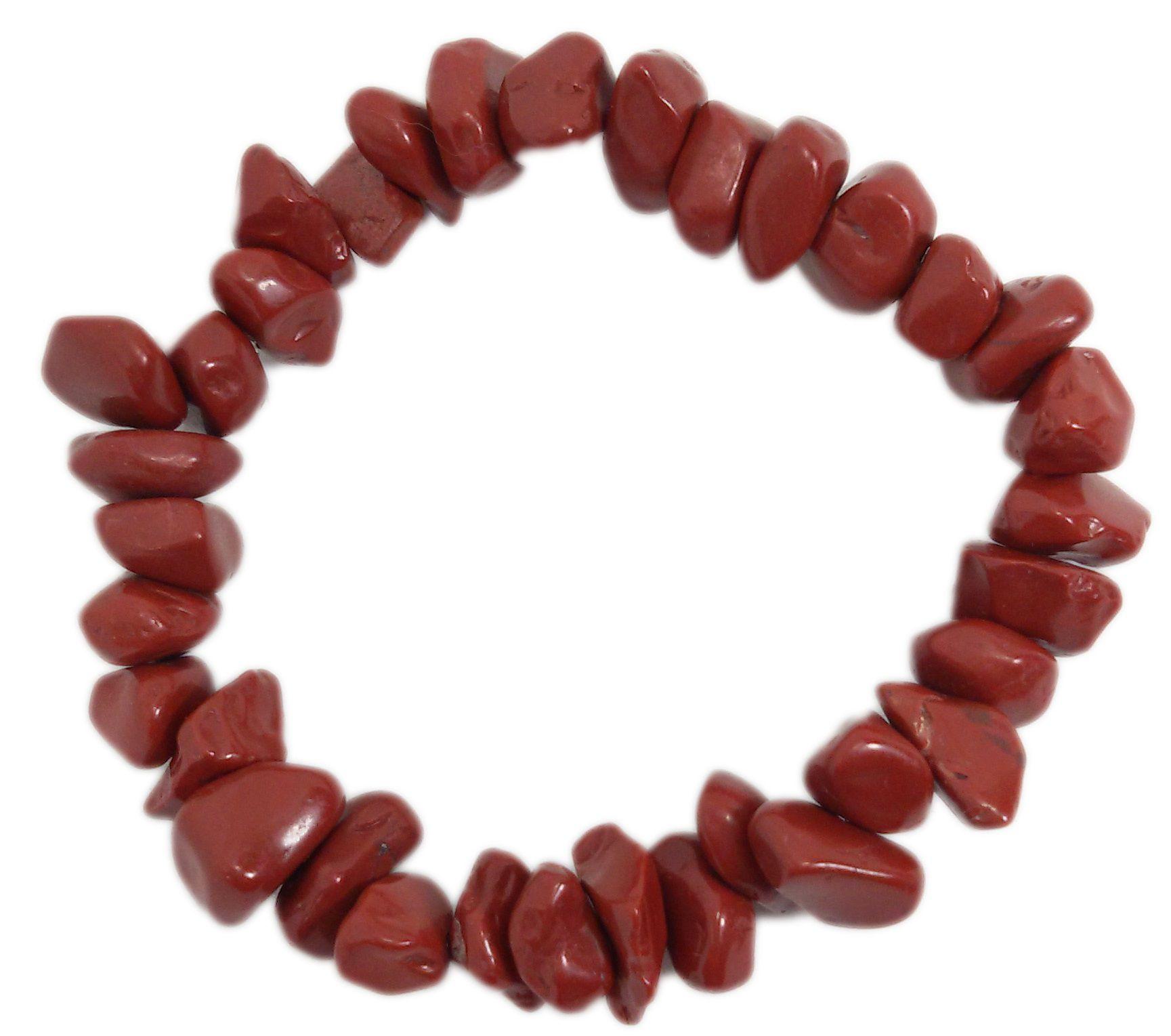 Pulseira De Pedra Jaspe Vermelho Natural