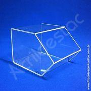 Baleiro de acrilico cristal indiv 15x16x20cm caixa expositor em acrilico para balas e doces
