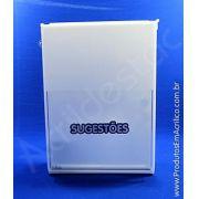 Caixa de Sugestões em Acrilico Branca 33cm Urna para sugestões e reclamações