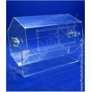 Urna de acrilico Giratoria Hexagonal 30x22 cm para sorteio em eventos