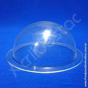 Cupula de acrilico Cristal 60cm diametro esfera de acrilico com Aba