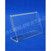 Display acrilico porta etiqueta e preço de mesa 4,5x6cm
