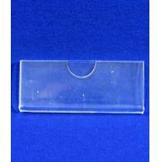 Display Acrilico modelo U Porta folheto para avisos A6 15x10cm Horizontal