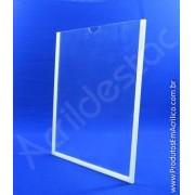 Display de Acrilico Porta Folheto de parede DUPLO Com Fundo A5 Vertical