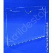 Display de acrilico Porta Folheto de parede modelo U Duplo A1 59,4x84 Horizontal