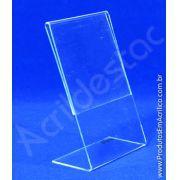 Display de acrílico Porta Folheto em L 21x10 Vertical