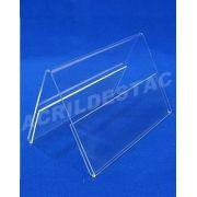 Display de acrilico Prisma identificador de mesa A6 10 x 15 dupla face