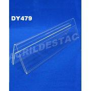 Display de acrilico Prisma identificador de mesa 10 x 21 dupla face