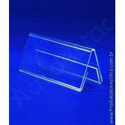 Display de PS Cristal acrilico similar 4,5 x 6 dupla face