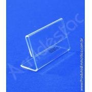 Display PS acrilico similar porta preços e etiquetas de mesa em acrilico 3x5cm