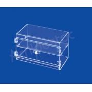 Expositor Acrilico Armario Horizontal EX373 Vitrine 20x30x17 cm para Joias e Bijuterias, Cosmeticos