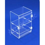 Expositor Acrilico Armario Vertical EX374 Vitrine 25x25x17 cm para Lojas, Joias e Bijuterias