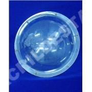 Meia bolha em acrilico 15cm diametro com aba Cupula Acrílica Transparente esfera redoma globo