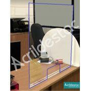 Barreira Protetora PS acrilico similar Mesa de Atendimento 60x70 cm