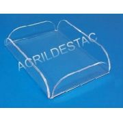 Bandeja Porta Amenities em Acrilico  18 x 13 cm para Hoteis e Pousadas