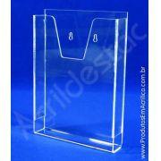 Porta Folheto A4 em Acrilico para Parede com bolso para revistas, folhetos e folders