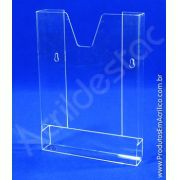 Display de Parede com bolso de Acrilico A5 21x15 Porta folhetos livro do consumidor