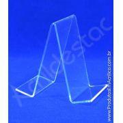 Porta Livro suporte Acrilico cristal 18 x 11,5 cm Duplo - Livrarias Vitrines Papelarias Lojas