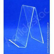 Porta Livro suporte de livros Acrilico cristal 18 x 11,5cm Indiv- Livrarias Lojas Papelarias Vitrines