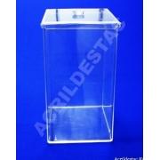 Potes de Acrílico para alimentos secos em Supermercados 45 x 25 cm (alt x base) - 28,0 L