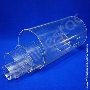 Tubo de acrilico 10cm diametro x 49cm altura tubo transparente
