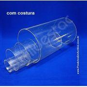 Tubo de acrilico 25cm diametro x 49cm altura loja de fabrica de tubos