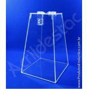 Urna de acrilico Piramide Cristal 30cm alt 3mm - Fabrica de urnas para eventos