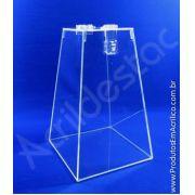 Urna de acrílico Cristal Piramide 40cm alt para promoção e eventos
