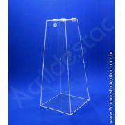 Urna em acrilico Piramide 70cm alt Cristal para sorteio