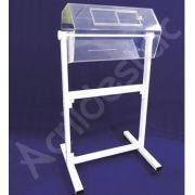 Urna Giratoria de acrilico com Pedestal de Chão 1 metro x 50 Venda para locação