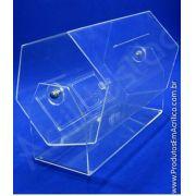 Urna de acrilico sextavado 100x50 cm para cupons sorteio Produtos em Acrilico