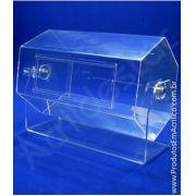 Urna de acrilico Giratoria para mesa e balcão 50x33 cm sorteios e promoções