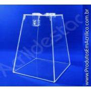 Urna de acrilico Cristal 20cm alt Piramide para sorteio