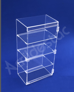 Armario Expositor Acrilico Vertical EX378 Vitrine 60x30x20 cm para Lojas, Joias e Cosmeticos