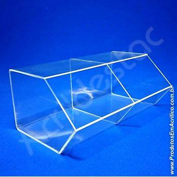 Baleiro de acrilico cristal Duplo 15x33x20cm caixa expositora cupcakes bombons brigadeiros